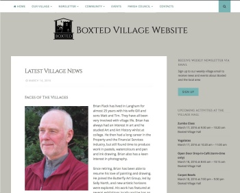 screenshot of boxted website