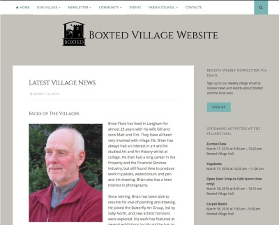 screenshot of boxted website