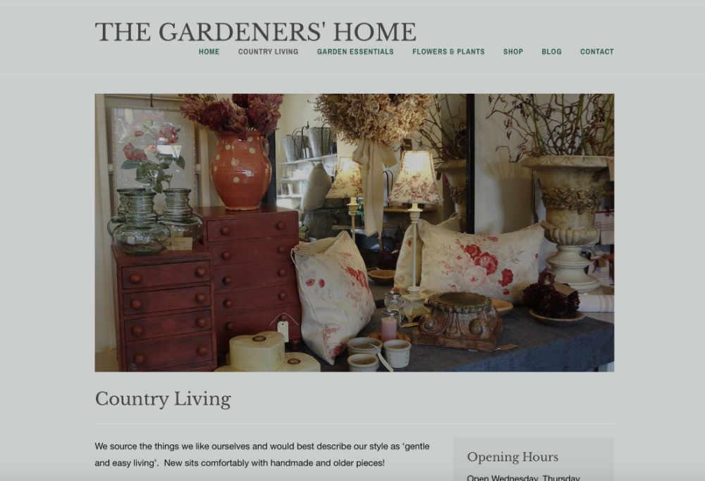 Screenshot of TGH website